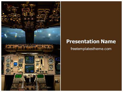 Free plane cockpit powerpoint template freetemplatestheme slide1g toneelgroepblik Images