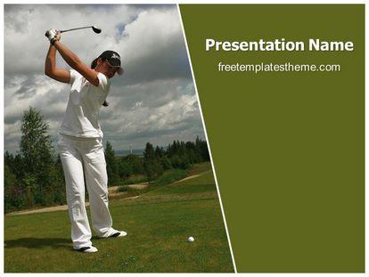 free playing golf powerpoint template | freetemplatestheme, Modern powerpoint