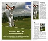 Free Playing Golf Word Template Background, FreeTemplatesTheme