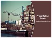 Free Port Industry PowerPoint Template Background, FreeTemplatesTheme