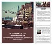 Free Port Industry Word Template Background, FreeTemplatesTheme