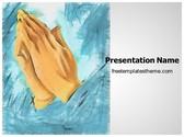 Free Praying Hands PowerPoint Template Background, FreeTemplatesTheme