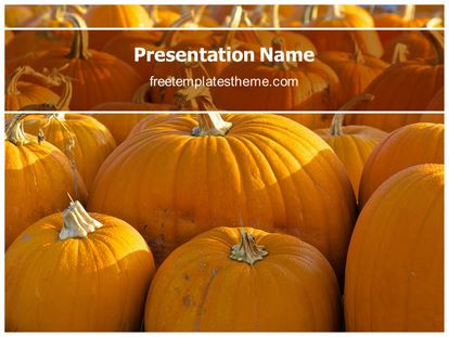 Free Pumpkin Powerpoint Template Freetemplatestheme Com