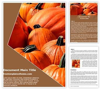 Pumpkins Free Word Document Template freetemplatestheme.com