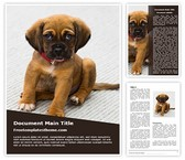 Free Puppy Dog Word Template Background, FreeTemplatesTheme