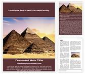 Free Pyramids Word Template Background, FreeTemplatesTheme