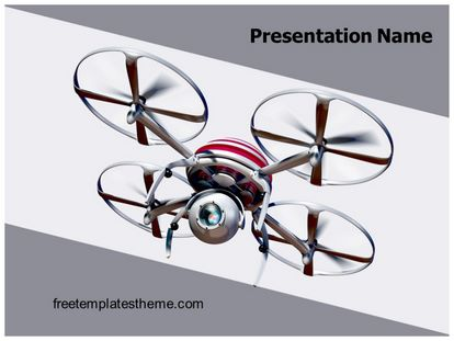 Free Quadcopter Drone PowerPoint Template