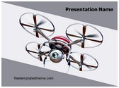 Free Quadcopter Drone PowerPoint Template Background, FreeTemplatesTheme