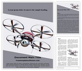 Free Quadcopter Drone Word Template Background, FreeTemplatesTheme