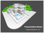 Free Real Estate Model PowerPoint Template Background, FreeTemplatesTheme