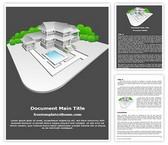 Free Real Estate Model Word Template Background, FreeTemplatesTheme