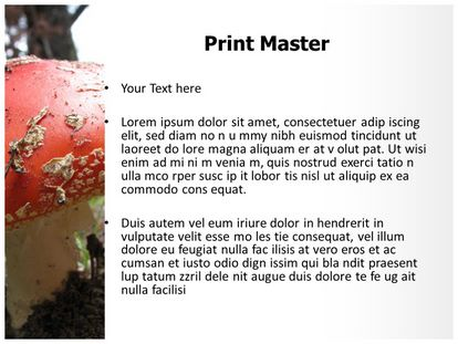 Free red mushroom powerpoint template freetemplatestheme slide1g slide2g slide3g toneelgroepblik Image collections