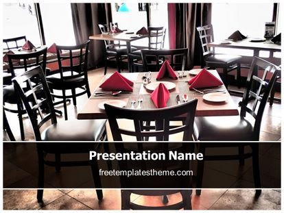 free restaurant powerpoint template | freetemplatestheme, Presentation templates