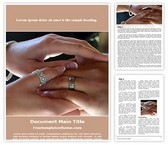 Free Rings Vows Word Template Background, FreeTemplatesTheme