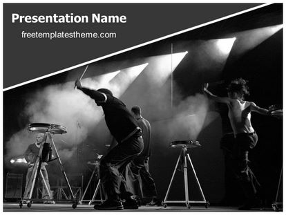 Free rock band event powerpoint template freetemplatestheme slide1g toneelgroepblik Gallery