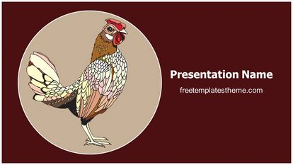 Rooster Year 2017 Free PPT Template Theme Widescreen, FreeTemplatesTheme