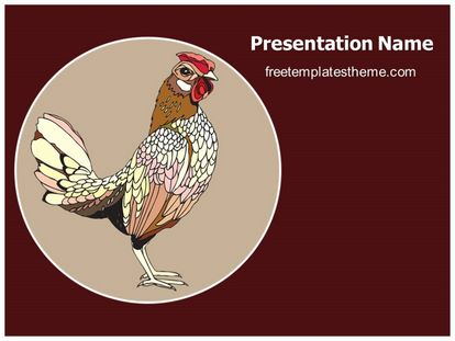 Rooster Year 2017 Free PPT Template Theme, freetemplatestheme.com