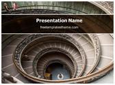 Free Round Staircase PowerPoint Template Background, FreeTemplatesTheme