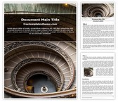 Free Round Staircase Word Template Background, FreeTemplatesTheme