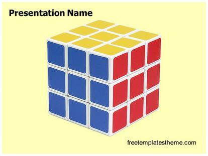 boring but big template - free rubik cube powerpoint template