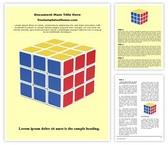 Free Rubik Cube Word Template Background, FreeTemplatesTheme