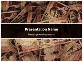 Free Rupees Background PowerPoint Template Background, FreeTemplatesTheme