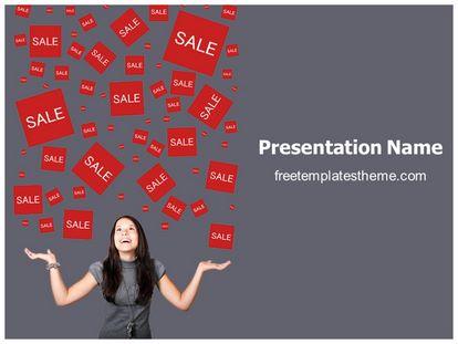 free sales rain powerpoint template