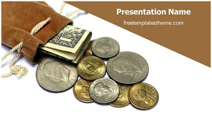 Saving Money Free PPT Background Template Widescreen FreeTemplatesTheme