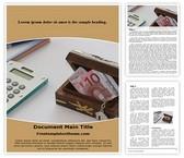 Free Savings Word Template Background, FreeTemplatesTheme