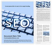 Free Search Engine Optimization Word Template Background, FreeTemplatesTheme