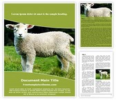 Free Sheep lamb Word Template Background, FreeTemplatesTheme