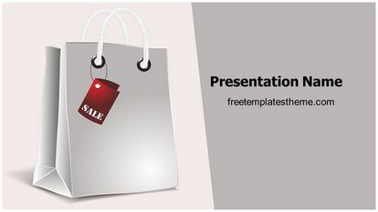 Shopping Bag Free PPT Template Design Widescreen FreeTemplatesTheme