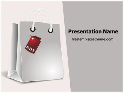 Shopping Bag Free PPT Template Design freetemplatestheme.com
