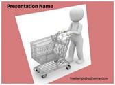 Free Shopping Cart PowerPoint Template Background, FreeTemplatesTheme