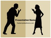 Free Silhouette Couple Arguing PowerPoint Template Background, FreeTemplatesTheme