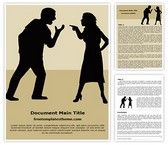 Free Silhouette Couple Arguing Word Template Background, FreeTemplatesTheme