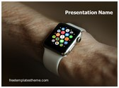 Free Smart Watch PowerPoint Template Background, FreeTemplatesTheme