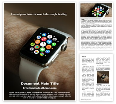 Smart Watch Free Word Document Template, freetemplatestheme.com