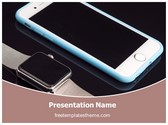 Free Smart Watch Phone PowerPoint Template Background, FreeTemplatesTheme