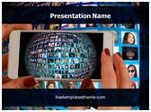 Free Smartphone Communication PowerPoint Template Background, FreeTemplatesTheme