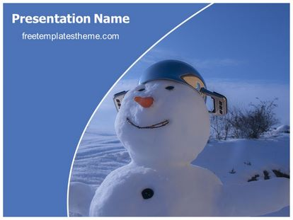 Free Snow Sculpture PowerPoint Template | freetemplatestheme.com
