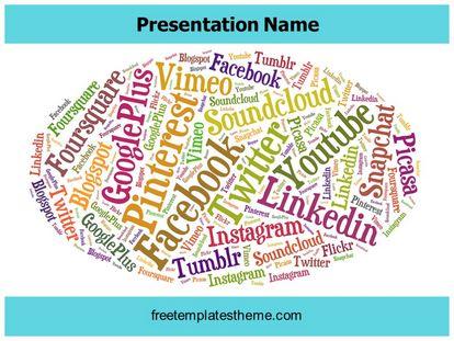 Free Social Media Giants Powerpoint Template Freetemplatestheme Com