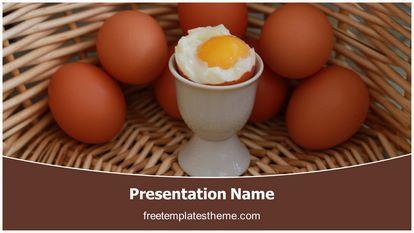 Soft Boiled Egg Free Powerpoint Template Widescreen FreeTemplatesTheme
