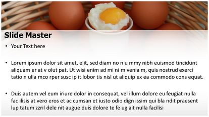 Soft Boiled Egg Free Powerpoint Template Widescreen Slide2