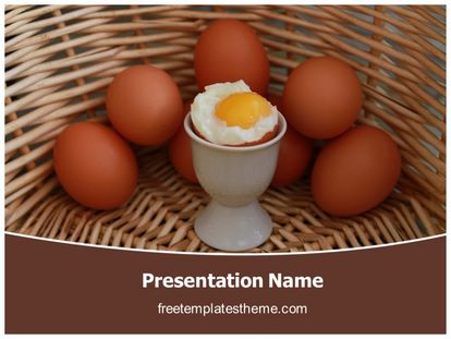 Soft Boiled Egg Free Powerpoint Template freetemplatestheme.com