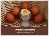 Free Soft Boiled Egg PowerPoint Template Background, FreeTemplatesTheme