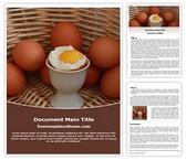 Free Soft Boiled Egg Word Template Background, FreeTemplatesTheme