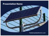 Free Solar Energy Light PowerPoint Template Background, FreeTemplatesTheme