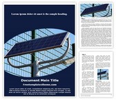 Free Solar Energy Light Word Template Background, FreeTemplatesTheme
