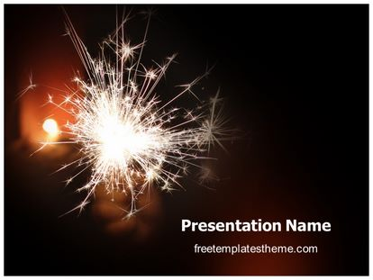 free sparkles powerpoint template | freetemplatestheme, Presentation templates